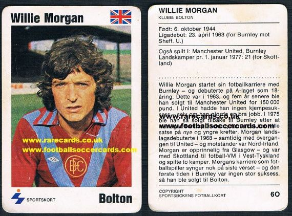 1979 Willie Morgan Burnley Bolton